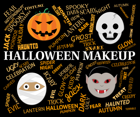 haunting: Halloween Makeup Meaning Spooky And Haunting Cosmetics