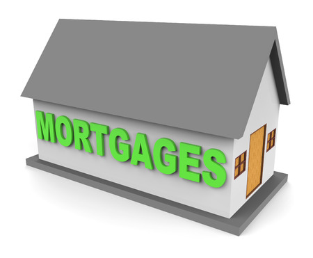 borrowing: House Mortgages Representing Home Loan 3d Rendering