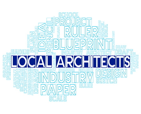 draftsman: Local Architects Representing Building Draftsman And Career Stock Photo