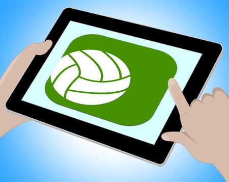 indicating: Soccer Online Indicating Tablet Footbal 3d Illustration