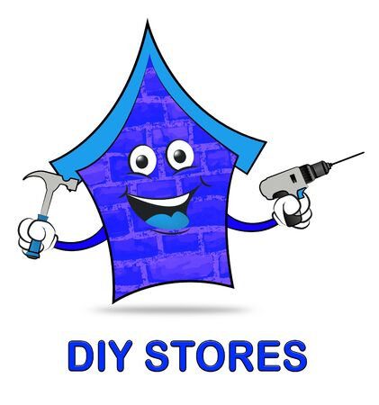 do it yourself: Diy Stores Representing Do It Yourself 3d Illustration