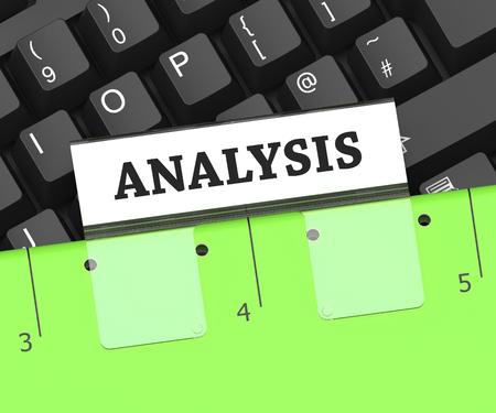 Analysis File Indicating Data Analytics 3d Rendering