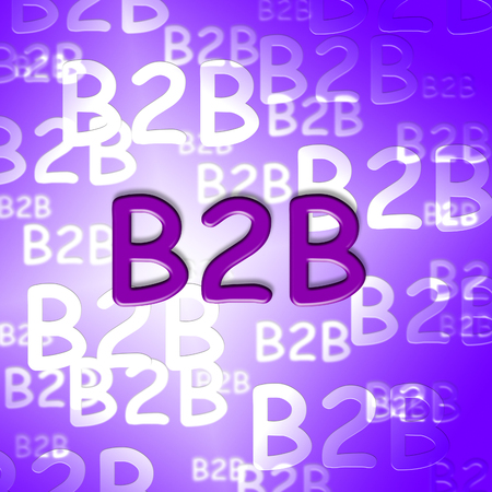 b2b: B2b words showing business and corporate client