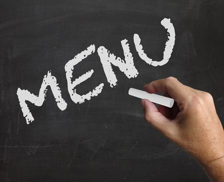 gastronomy: Menu Word Representing Restaurant Gastronomy And Words