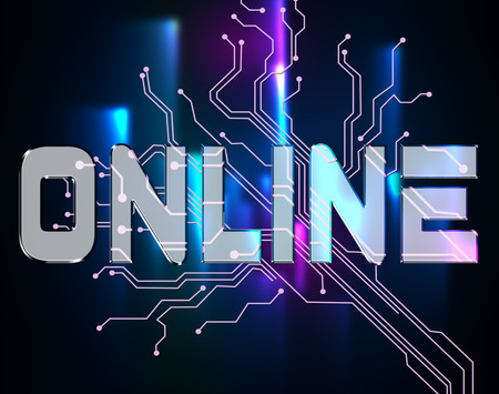 connection connections: Online Word Representing Website Connection And Internet
