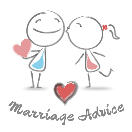 Marriage Advice Meaning Marital Help And Guidance Stock Photo