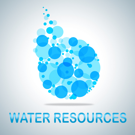 water resources: Water Resources Showing H2o Sources And Stocks
