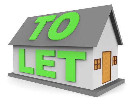landlord: House To Let Representing Rental 3d Rendering