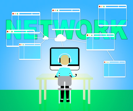 networked: Computer Network Representing Global Communications 3d Illustration