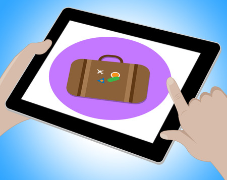 indicating: Travel Tablet Indicating Journey Tours 3d Illustration