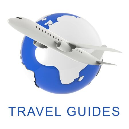guides: Travel Guides Meaning Holiday Tours 3d Rendering Stock Photo