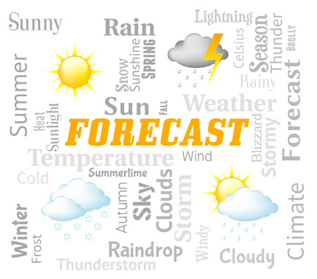 forecaster: Weather Forecast Representing Meteorological Conditions And Climate