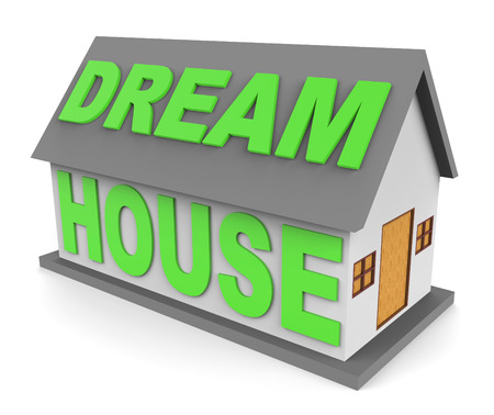 dream house: Dream House Representing Ideal Home 3d Rendering