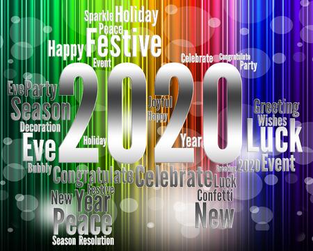 twenty two: Two Thosand Twenty Indicating 2020 3d Illustration