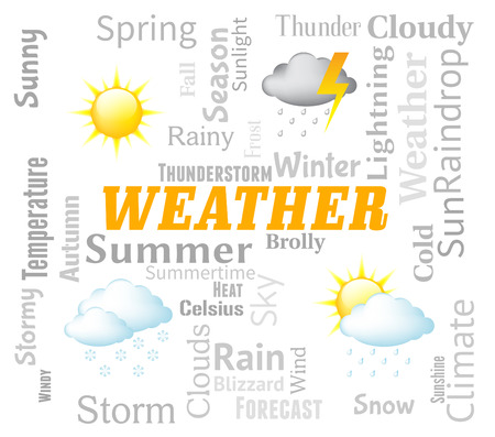 conditions: Weather Forecast Indicating Meteorological Conditions And Forecasting Stock Photo