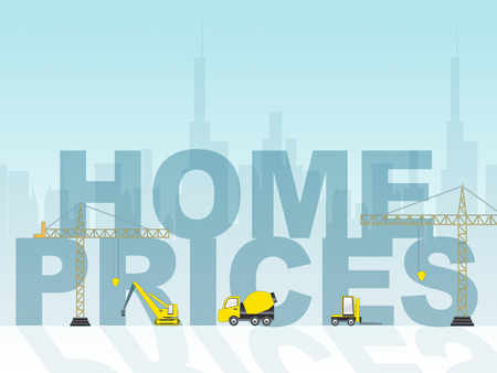 home prices: Home Prices Showing Houses Cost 3d Illustration Stock Photo