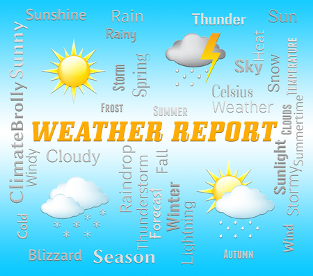 weather report: Weather Report Showing Climate And Meteorological Data
