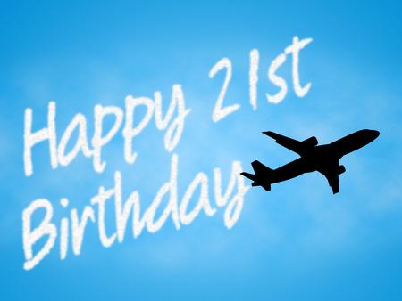 twenty: Twenty First Birthday Indicating 21st Celebration Greeting