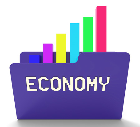 economizing: Economy File Showing Macro Economics 3d Rendering
