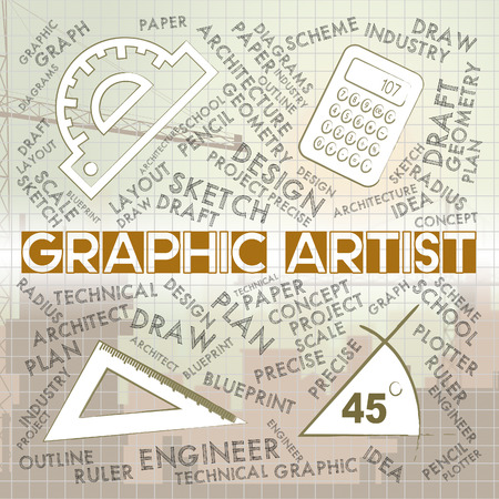 graphic artist: Graphic Artist Meaning Creative Designer And Recruitment Stock Photo