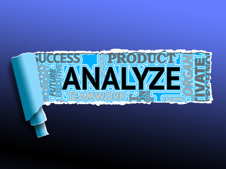 Analyze Word Showing Data Analysis And Analyzing
