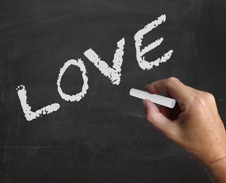 afecto: Amor de la palabra compasión que muestran el afecto y cariño Foto de archivo