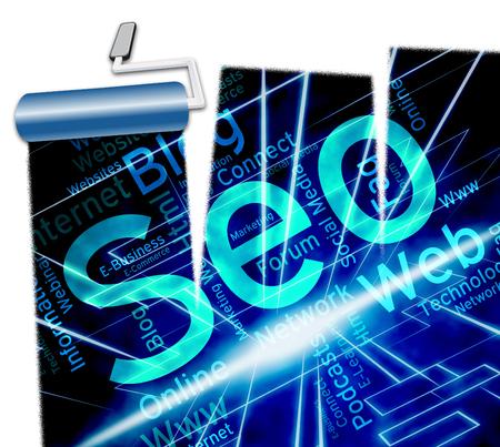 Online Seo Shows Website Optimization 3d Illustration Stock Photo