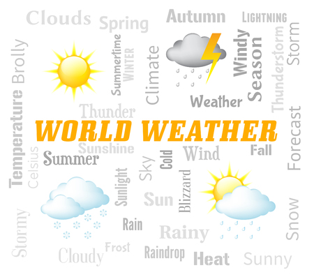 forecasts: World Weather Representing Global Meteorological Conditions Forecast