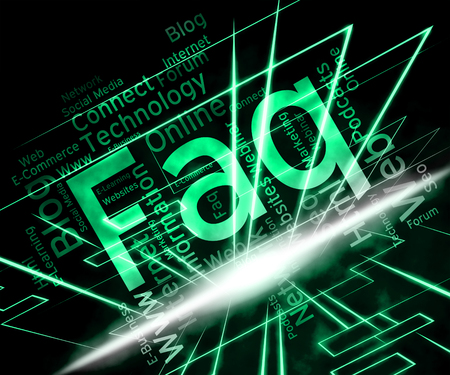 questions: Faq Word Indicating Frequently Asked Questions And Advice