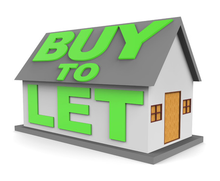let out: Buy To Let Meaning Landlord Buying 3d Rendering