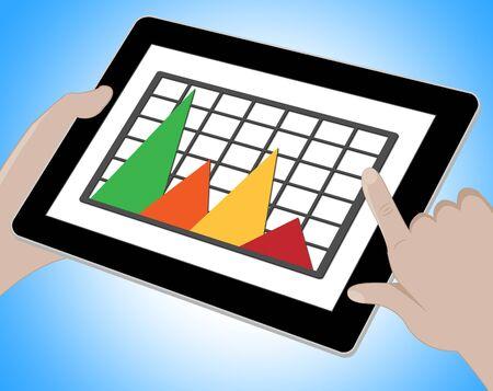 forecast: Graph Online Meaning Graphs Forecast 3d Illustration