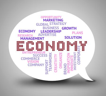 economizing: Economy Bubble Indicating Micro Economics And Finance