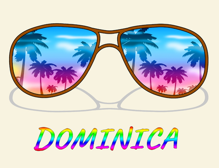 time off: Dominica Vacation Meaning Time Off Caribbean Getaway Stock Photo
