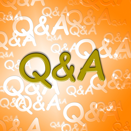 Q&A Words Showing Questions And Answers Inquiry