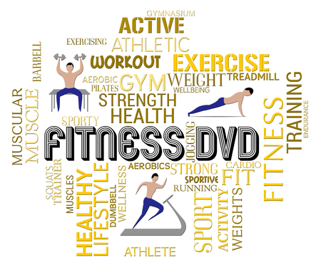 work out: Fitness Dvd Indicating Physical Activity Work Out