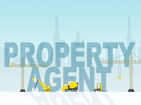 property agent: Property Agent Showing Real Estate 3d Illustration Stock Photo
