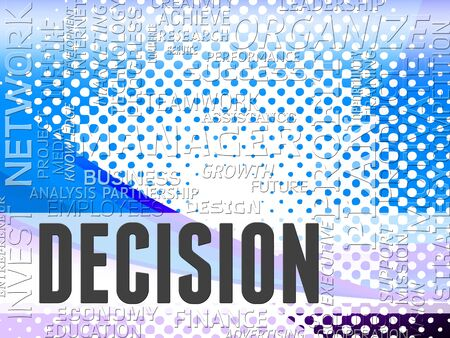 Decision Words Representing Choice Decisions And Choices Reklamní fotografie