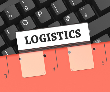 coordinating: Logistics File Meaning Planning Process 3d Rendering