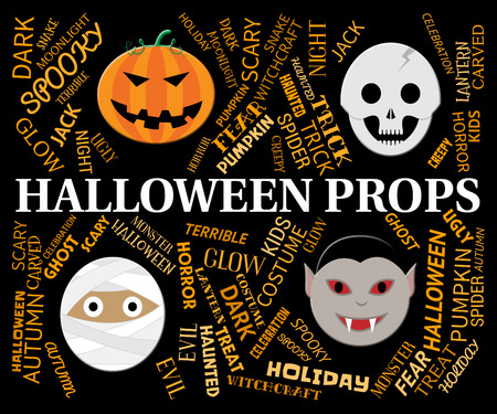haunting: Halloween Props Words And Faces Mean Trick Or Treat Accessories