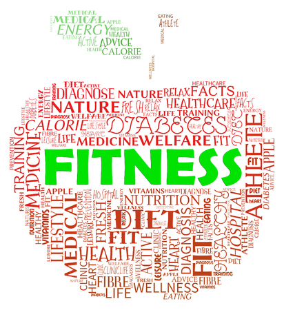 get a workout: Fitness Apple Meaning Physical Activity And Exercising Stock Photo