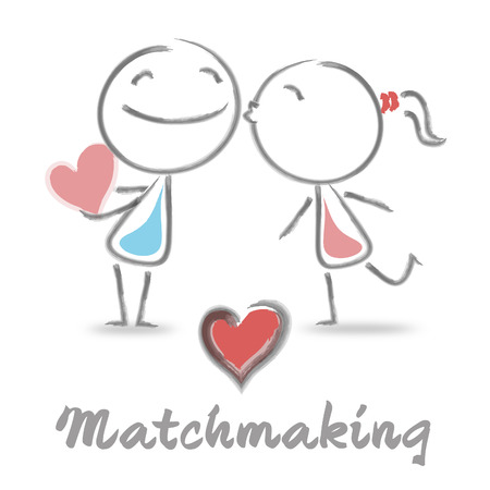 Matchmaking Dating Meaning Find Love And Compassion Stock Photo
