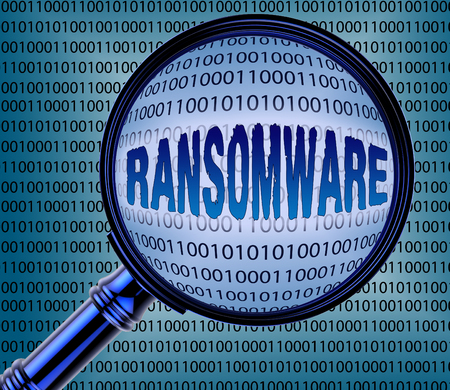 Computer Ransomware Showing Online Extortion 3d Rendering