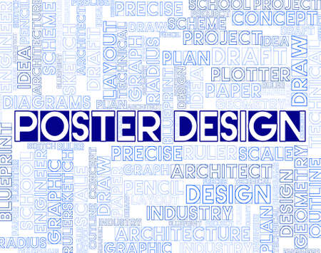 graphic designing: Poster Design Indicating Graphic Concept Or Signboard Stock Photo