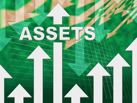 owned: Assets Graph Representing Resources Valuables And Holdings