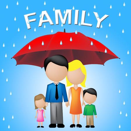 kin: Family Word Umbrella Indicating Kin And Relations