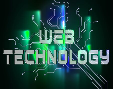 represent: Web Technology Words Represent Www Technologies And Network