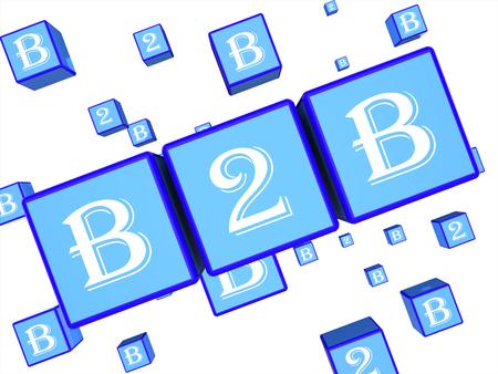 b2b: B2b dados ya que las empresas de negocios 3d Rendering