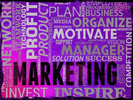emarketing: Marketing Words Showing Promotions Seo And Sem