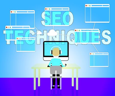 search engines: Seo Techniques Showing Internet Search Engines Strategy