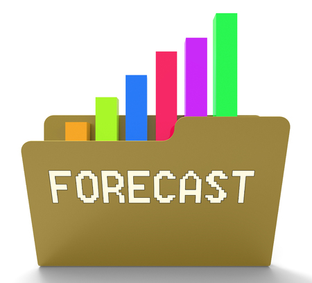 prediction: Forecast Word On File Represents Prediction Graph 3d Rendering